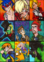 Fanart ATCs Batch 1 by DIN0LICH