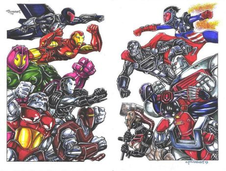 Armored Marvel Vs. Armored DC by olybear