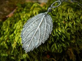 Melissa officinalis, Lemon Balm Pendant by QuintessentialArts