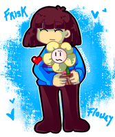 Frisk and Flowey by Rumay-Chian