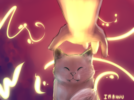the glow cat by Imahuu