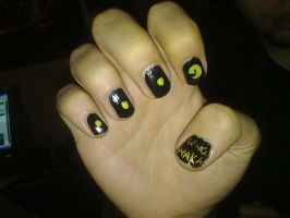 PacMan manicure by Klodia13