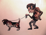 Professor and his dog by LilianFork