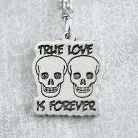 True Love is Forever Skull Necklace by foowahu-etsy