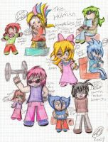 Human Koopalings by ChibiKirbylover