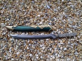 Elven shortsword and scabbard by DragonArmoury