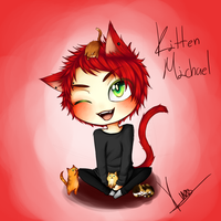 [5sos] Kitten!Michael by TheCruelAngel