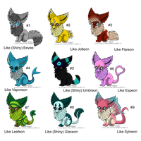 Eevee Maenique Adopts - Closed by Feralx1