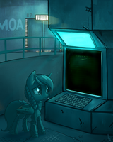 Avariel's Computer Room Blues Poster by Hollulu