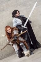 Ready to fight! Jon and Ygitte by saetiz