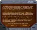Notice of termination. by Warg-Arble