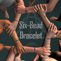 Six-Bead Bracelet - FREE Download by TrinfinityTrio
