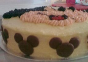 Micky Mouse Cake - Side View by Dark-Queen-of-Death