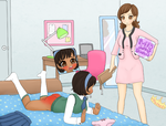 Dorm Mother Knows Best (spanking + diaper content) by Pastel-Hime