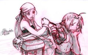 FMA: Winry and Edward by ArbitraryJane