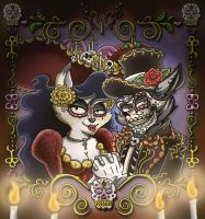 Sly and Carmelita Day of the Dead by shinragod