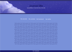 Blue Nights-Journal Skin by MyrhiumsDesigns