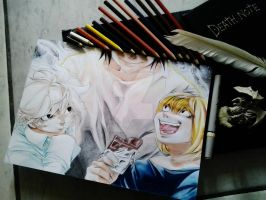 Lawliet, Near and Mello / Death Note by Robert-Sennin