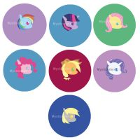 My Little Pony Buttons by MysticEden