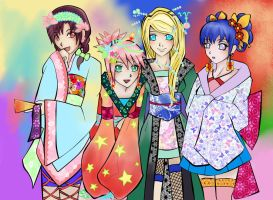 naruto  girls by veggwhale