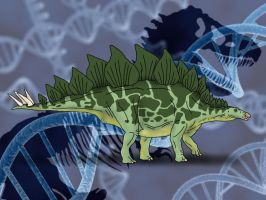 Jurassic Park Novel Stegosaurus by TrefRex
