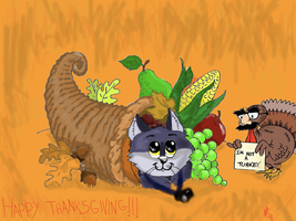 Happy Thanksgiving! by firewolf625