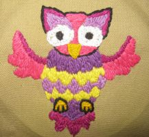 Embroidered Owl by TheCrimsonCrow