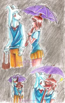 UT: Caught in the Rain by hopelessromantic721