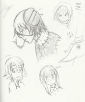 Soul Eater Sketches by FairyKats