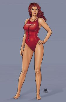 COMMISSION: Fathom Lifeguard by DaggerPoint