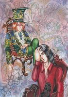 Mad Hatter and psychologist by Streight
