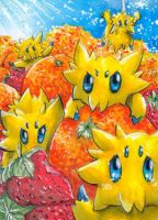 Joltik likes fruits by xxDarkDustxx