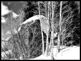 june mountain b+w by NotYourBabyDoll