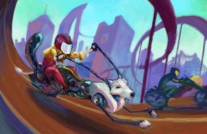 Wolf Racer by toughtink