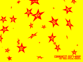 Communist Gift Wrap by skinniouschinnious
