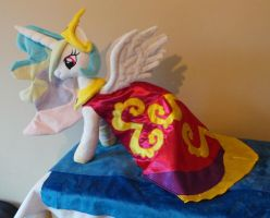 Princess Celestia in her dress by PlushieScraleos