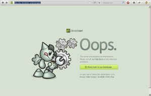 New Error Page 'Oops' by just-a-user