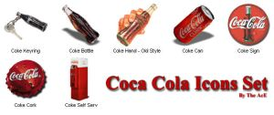 Coca Cola Icons Set by the-ace