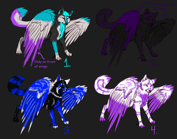 Winged Wolfies Adopts (Closed) by YukiAlecCross28