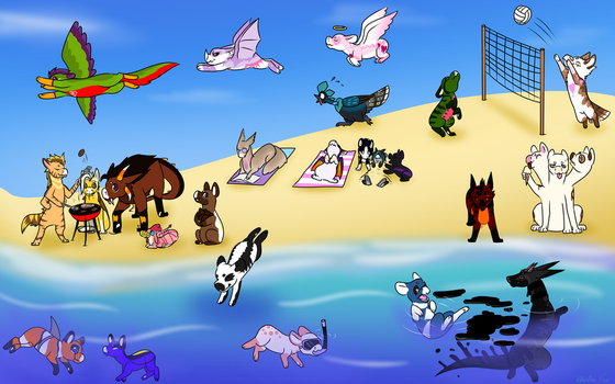 Prompt 1: Summer Funtimes! by Umbra-Exe
