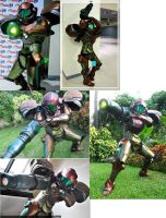 Samus Aran Cosplay Collage by thebrambear