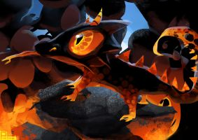 Inside the Volcano Spitpaint by Pheoniic