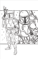 Boba and Jango WIP by Hodges-Art