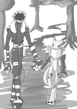 RenaBeel: Holding hands by Snowflake-owl