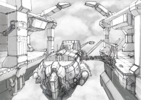 Airship Dock 1 by Galiford