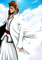 Aizen Sama a god coloring by DIABLO123456