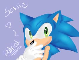 sonic .without lines again. by Patrial