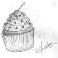 CupCake sketch by MimiMunster