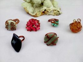 Copper wire rings by Mirtus63