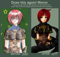 Before and After: Nel Zelpher by ChaoticBlossoms